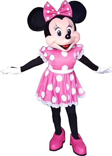 Adult Minnie Mouse Mascot Costume Halloween Party Cosplay Fancy Dress Outfit New