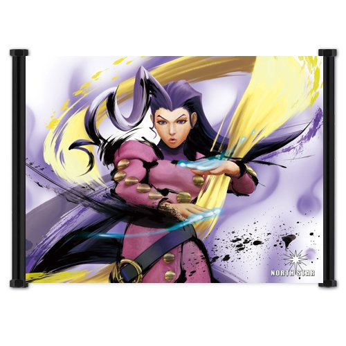- Street Fighter IV 4 Rose Game Fabric Wall Scroll Poster (21