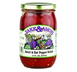 Jake & Amos Sweet & Hot Pepper Relish 16 oz. (3 Jars)