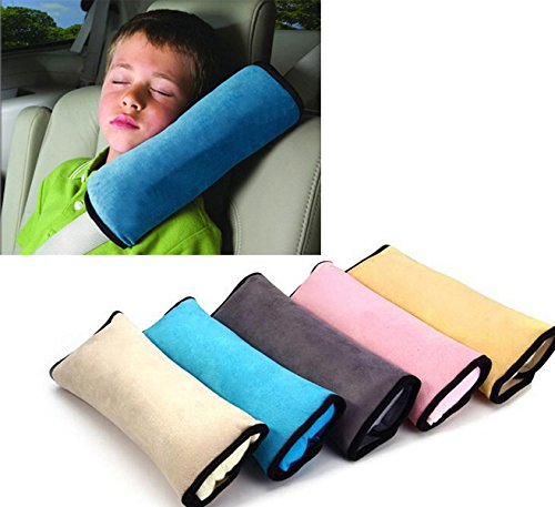 Brand New Car Auto Baby/Child Safety Seat Belt Shoulder Cushion Pad Pillow (Gray)