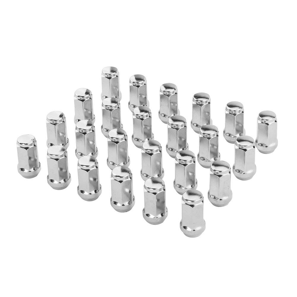 Partschoice 24PCS 14 x 2 Wheel Lug Nuts Chrome Lug Nuts-Cone Seat-19mm Hex Compatible for 04-13 Ford Expedition F-150 & Lincoln Navigator by Partschoice