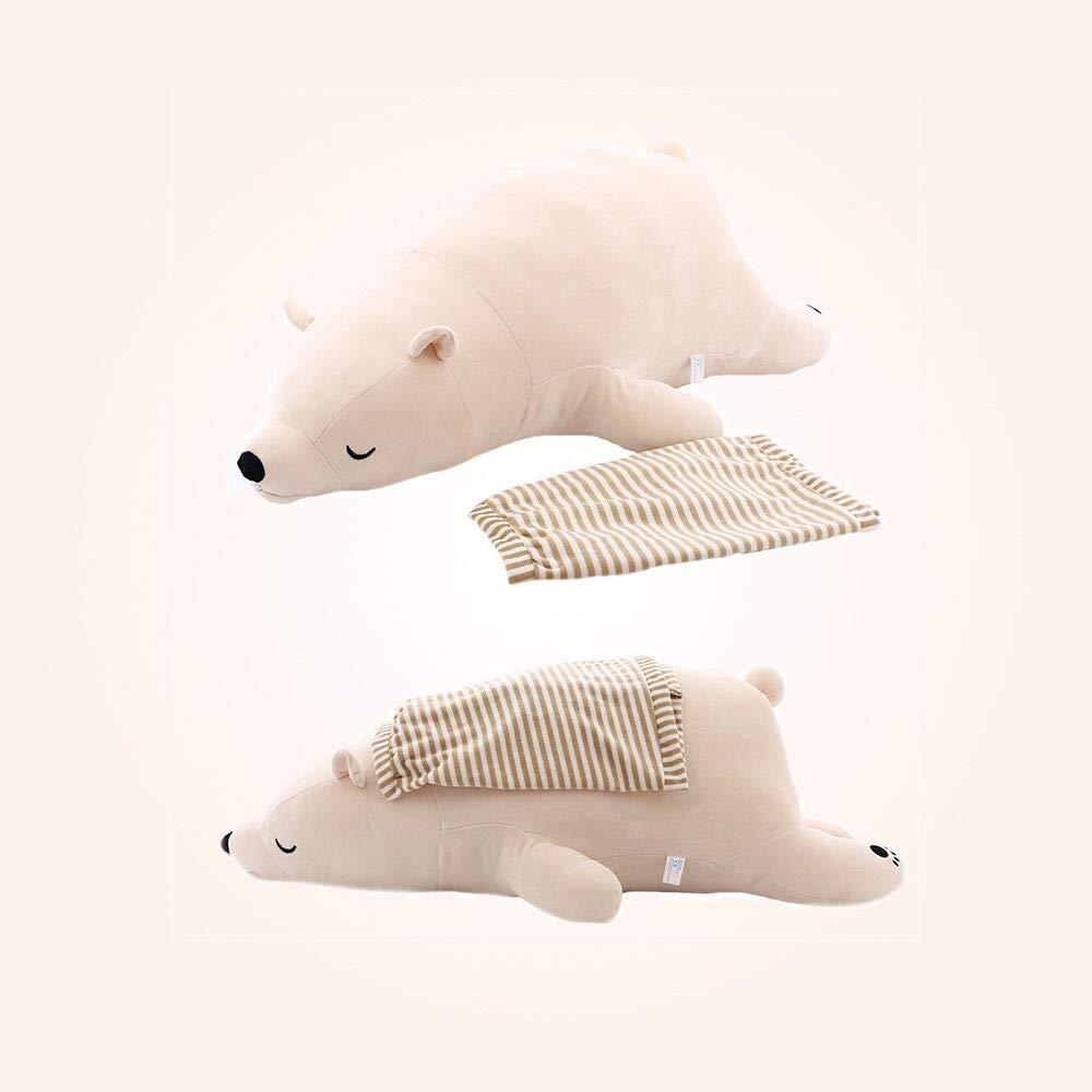 Large 27.5,Small 19.7 ,PP Cotton Stuffed Animal Plush Dolls,Safe and Non-Allergic Material,Machine Washable Set of 2 Toys Large 27.5 Small 19.7 YOULX Soft Polar Bear Plush Toys,Set of 2 Toys