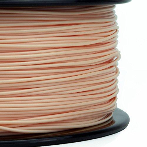 UPC 887503153002, Gizmo Dorks 3 mm PLA Filament, 1 kg for 3D Printers, Natural Beige