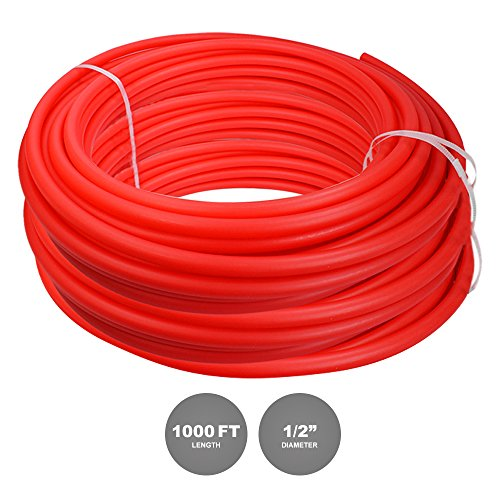 Pexflow Oxygen Barrier O2 PEX Tubing - PFR-R121000 1/2 Inch X 1000 Feet Tube Coil for Potable Water EVOH PEX-B Residential & Commercial Radiant Floor Heat & Cold Plumbing Application (Red) by PEXFLOW (Image #3)