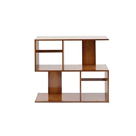 ZHANGRONG Bamboo S Shaped Bookshelf 2 3 4 5 Tier