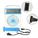 Portable USB Mini Solar Fan Light with LED Table Lamp and Flashlight for Home Outdoor Camping