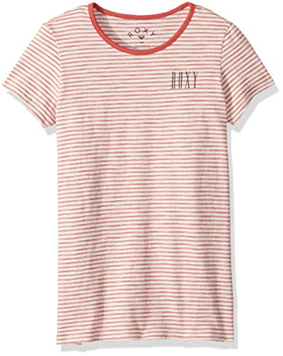ROXY Girls' Big Another Dream Ringer T-Shirt, Mineral red Simple Stripe, 14/XL (Girls Ringer T-shirt)