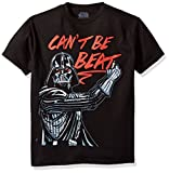Star Wars Big Boys' Darth Vader Can't Be Beat Graphic Tee, Black, YM