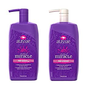 AUSSIE Total Miracle 7 in 1 Shampoo & Conditioner 26.2 FL OZ ( 1 bottle each )
