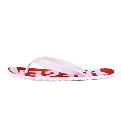 7b90c2e28900 DIESEL Splish White Red Flip Flops Sandals  Amazon.co.uk  Shoes   Bags