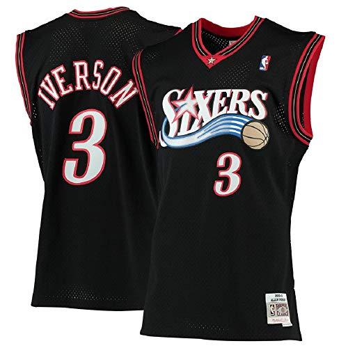 Allen Iverson Philadelphia 76ers #3 2000-01 Hardwood Classics Men's Black Swingman Jersey ()