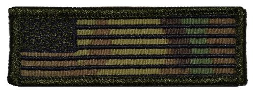 United States USA American Flag 1x3 inch Morale Patch - Mult