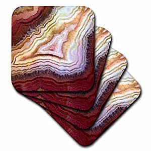 Danita Delimont - Abstract - Banded Agate, macro - set of 8 Coasters - Soft (cst_231713_2)