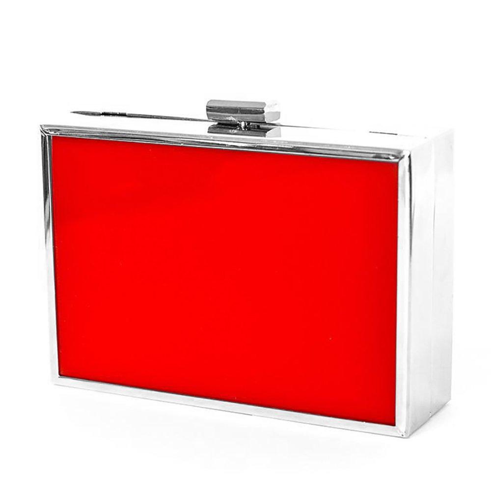 Ophia Hard Case Clutch (Red)