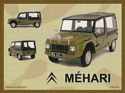 PLAQUE METAL 20X15cm CITROEN MEHARI