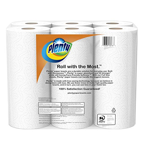 Large Product Image of Plenty Ultra Premium Full Sheet Paper Towels, White, 24 Total Rolls