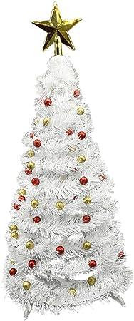HomeDecTime Mini árbol De Navidad Decoración De Mesa En Miniatura Adornos Para El Hogar - rojo, tal como se describe: Amazon.es: Hogar