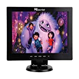 Haorizi 12 Inch Color Security CCTV Monitor 800X600 4:3 Video and Audio TFT LCD Display Screen AV/VGA/HDMI/BNC USB Input with Dual Speakers