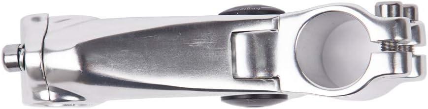 Mountain Bike 110mm-Silver, 120mm-Black BMX Cycling ZUKKA Bike Stem,25.4mm Adjustable Bicycle Handlebar Riser Extender for Road Bike MTB