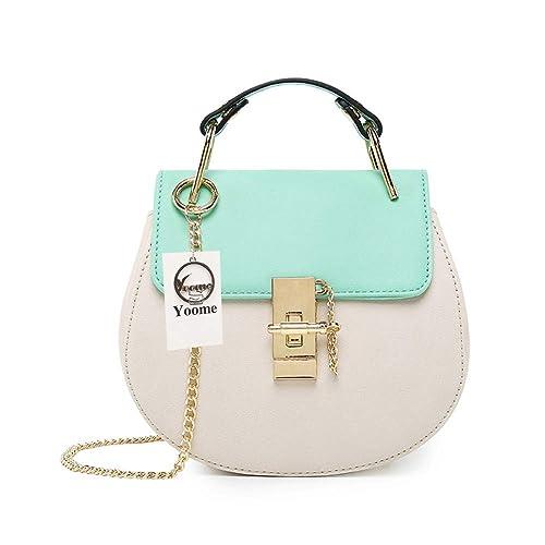 f2c8e9e13b89a Yoome Women Small Flap Chain Bag Crossbody Envelope Purse Clutch Mini  Wallet For Girls - Cyan