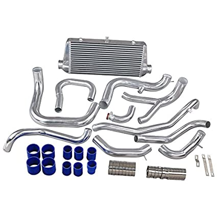 Amazon.com: CXRacing FMIC Intercooler + Air Intake Piping Kit For Mitsubishi 3000 GT VR-4 & Dodge Stealth TT: Automotive