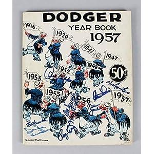 1957 Brooklyn Dodgers Autographed Signed Year Book 9 Duke Snider Etc. COA Memorabilia JSA
