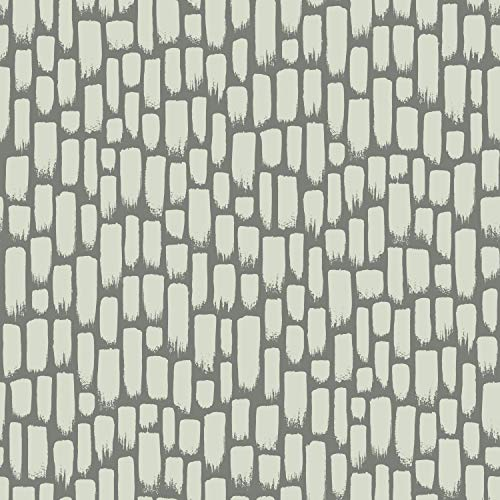 York Wallcoverings RY2714 Risky Business 2 Sumi-E Removable Wallpaper Metallic Gray