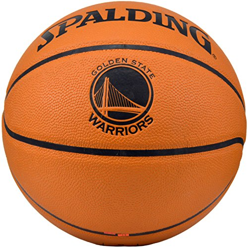 Spalding NBA Golden State Warriors Team Logo Composite Leather Basketball by Spalding