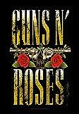 Heart Rock Bandiera Originale Guns N' Roses Big Guns, Tessuto, Multicolore, 110x75x0.1 cm