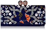 Ted Baker Milissa Wallet, Kyoto Gardens Bobble Matinee, Mid Blue, One Size