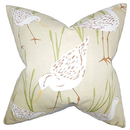 The Pillow Collection Sand Agapi Animal Print Bedding Sham, King/20'' x 36'' by The Pillow Collection
