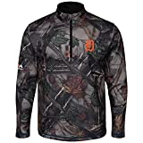 Majestic The Woods Detroit Tigers Camo 1/2 Zip Jacket