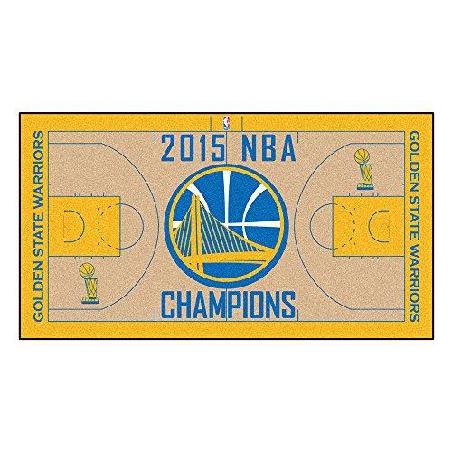 Fan Mats FAN-18271 Golden State Warriors 2015 NBA Champion 2 x 4 Court Runner, 24 x 44 (State University Basketball Area Rug)