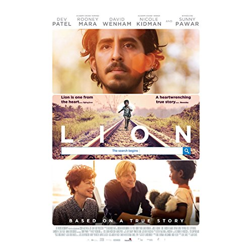 - Lion (2016) 11 inch by 17 inch LITHOGRAPH Triple Image Stacked Movie Poster kn