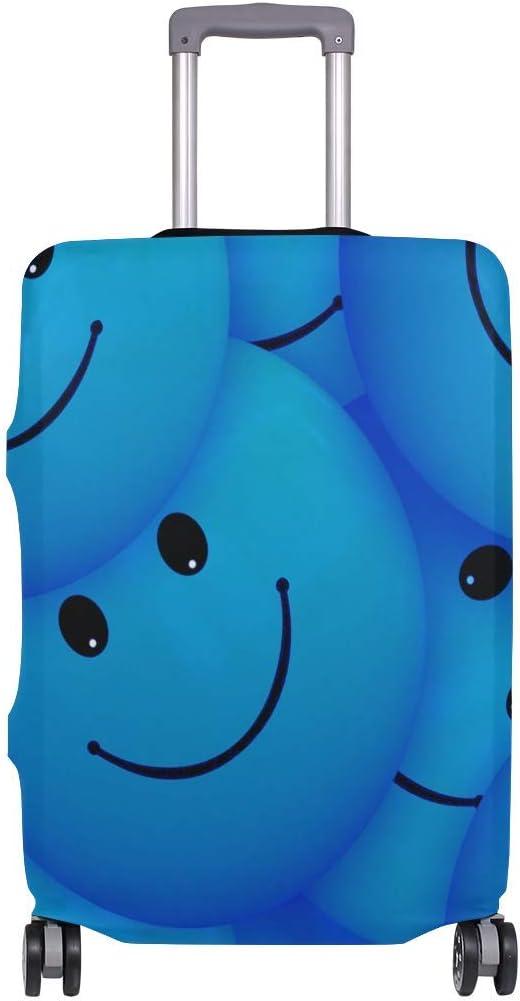 Maleta de Viaje Emoji Smile Travelers Choice Azul con Ruedas giratorias Maleta con Equipaje de 24 Pulgadas