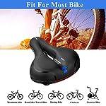 OKBONN-Sella-BiciSedile-Bicicletta-Ergonomica-Comoda-Impermeabile-con-Molla-Antiurtocon-Nastro-Riflettente-Imbottitura-in-Memory-Foam-per-Biciclette-da-Strada-Mountain-Bike-e-City-Bike