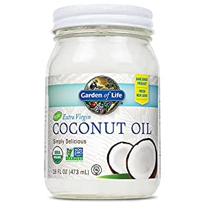 Garden of Life Organic Extra Virgin Coconut Oil - Unrefined Cold Pressed Coconut Oil for Hair, Skin and Cooking, 16 Ounce