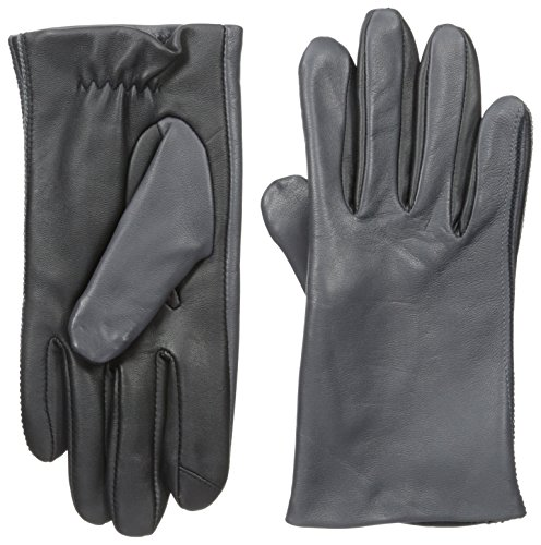 Touchpoint Men's Two Tone Leather Glove, Smoke, Medium - Two Tone Leather Gloves