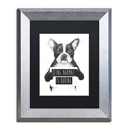 Being Normal Is Boring by Balazs Solti, Black Matte, Silver Frame 11x14-Inch from Trademark Fine Art