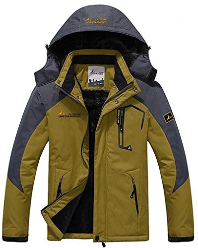 Passionate Adventure Men's Outdoor Ski Snow Climbing Hiking Warm Sports Jacket Ginger US XS (Tag Size L)