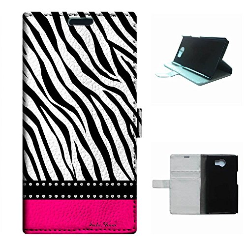 Priv 5.4 case,SoloShow(R)Deluxe High Quality PU Leather Wallet Card Flip Stand Case for Blackberry Priv 5.4 inch. (Hot pink & zebra)
