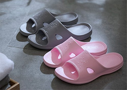 Slip Thick Slippers TELLW Indoor for Slippers Anti Cool Gray Bottom Female Men Bathroom Summer Male Home BfvzOwTqB