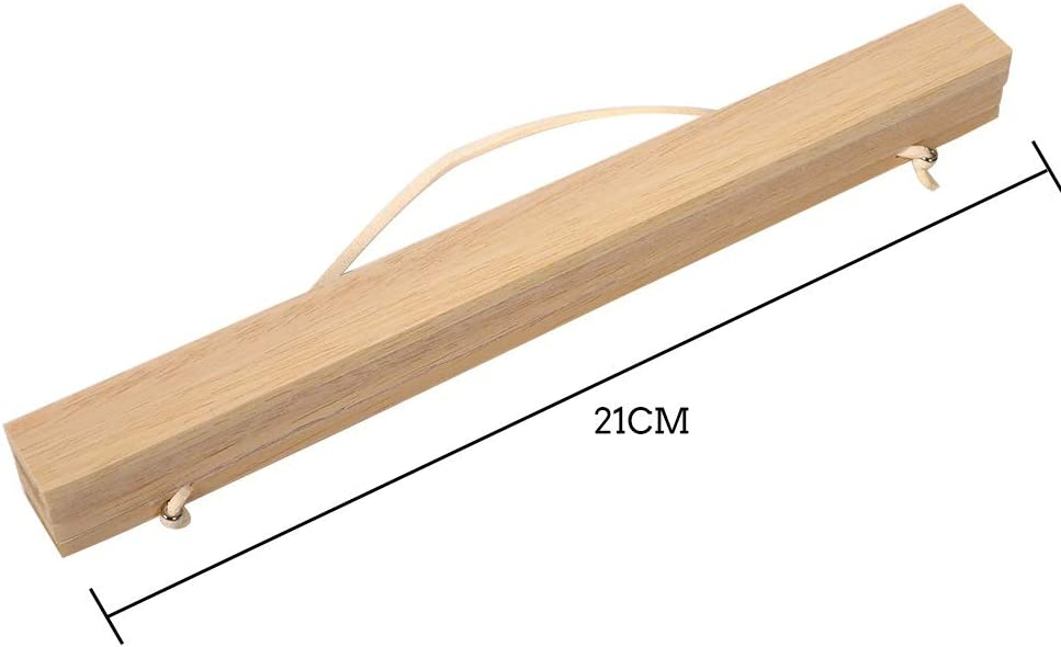 Solomi Colgador para Carteles Marco Moderno de Madera magn/ético Colgador para Carteles para Impresiones Obras de Arte 4 tama/ños