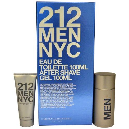 Carolina Herrera Ginger Eau De Toilette (212 Men Eau-De-Toilette Spray, After Shave Gel by Carolina Herrera, 2 Count)