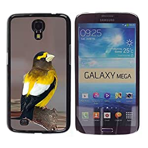 FlareStar Colour Printing Yellow Songbird Beautiful Nature Feathers cáscara Funda Case Caso de plástico para Samsung Galaxy Mega 6.3 / i9200 / SGH-i527