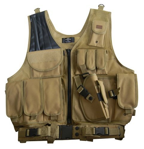Coyote Tan Paintball / Hunting / Airsoft Deluxe Tactical Vest by Taigear / Fidragon