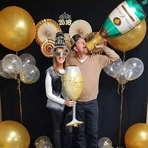 OUDIROSE - Botella de champán para cerveza, globo de ...