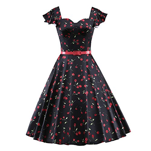 LUOUSE Vintage Rockabilly Cocktail Dresses