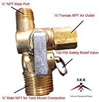 New Air Compressor Tank Manifold w/ Built in Ball Valve and 150 PSI Safety Valve