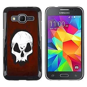 Be Good Phone Accessory // Dura Cáscara cubierta Protectora Caso Carcasa Funda de Protección para Samsung Galaxy Core Prime SM-G360 // Goth Skull Red